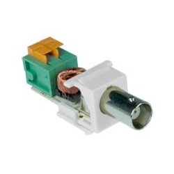Composite BNC Video Balun via CAT5, White