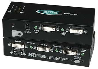 VIDMUX® SE-DVI-4ARS (Front & Back)