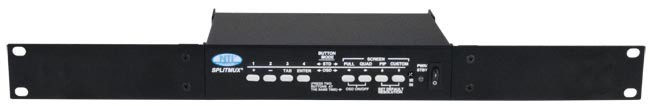 SPLITMUX-HD-4RT-R - 1RU Rackmount with the front panel buttons facing the front.