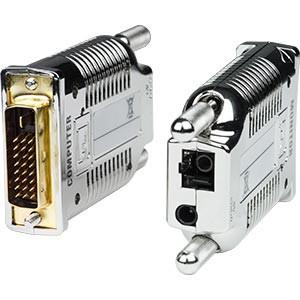 DVI-D single link extender via single-strand multimode SC fiber cable, up to 3,280 ft (1,000 m)