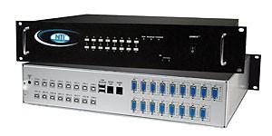 16 port USB KVM switch, rackmounted, OSD, RS232 control