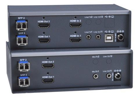 XTENDEX® ST-IPFOUSB4K-LCDH (Local & Remote Units)