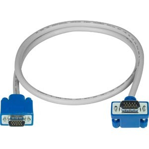 Up angle to straight VGA cable, 15-pin HD, male-male